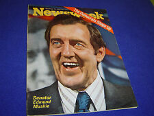 "Newsweek November 16, 1970: Senator Edmund Muskie ""Democrats Shape Up"""