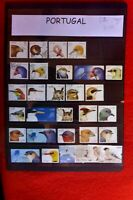 PAGE OF PORTUGAL BEAUTIFUL BIRDS 30 DIIFERENT USED  STAMPS