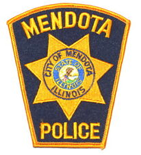 MENDOTA ILLINOIS IL Sheriff Police Patch STATE SEAL CITY SEAL EAGLE ~