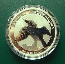 2011 Australian Kookaburra 1 oz 999 Silver Coin - BU in plastic Air-tite
