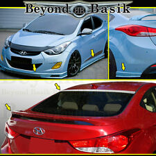 Fits 2011-2013 Hyundai Elantra 5pc Sequence Style Body Kit+Rear & Roof Spoilers