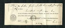 Württ. Postschein mit K3 Baiersbronn 1861 gefaltet  (D82)