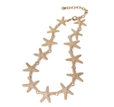Starfish Necklace, Uk Seller New Beautiful Gold Tone Textured