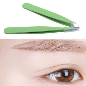 Green Hair Removal Eyebrow Tweezer Eye Brow Clips Makeup Tools Accessories Shan