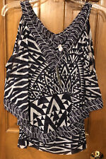 NWT $68 Anthropologie Sweet Pea Arrows And Angles Tank layered Top Medium RARE