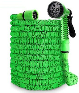 100FT- 200FT Green Magic Snake Hose Pipe 3x Expandable +Water Spray Gun F&F