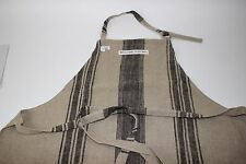 NWT WILLIAMS SONOMA Burlap Black Striped 100% Linen GRAIN SACK Cooking Apron OS