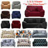SOLID 1/2/3/4 Seater Elastic Sofa Cover Slipcover Settee Stretch Couch Protector