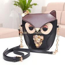 Women Girl Owl Print Satchel Messenger Shoulder Bag Handbag Cross Body Purse Hot