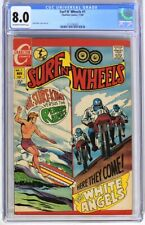 S267. SURF N' WHEELS #1 by Charlton CGC 8.0 VF (1969) JACK KELLER Cover & Art