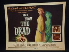 Peggie Castle Back From the Dead 1957 Title Lobby Card #1  VF Horror