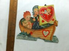 1920's/30's Valentine with Crepe Paper Fold-out. 6 1/2 x 7 inches.