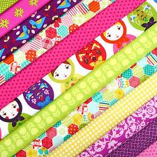 Bazaar Brights Fabric Scrap Pack / quilting Moda Robert Kaufman Riley Blake
