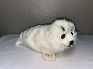 "Hansa Creation 11.5"" White Seal Plush 2012 NEW"