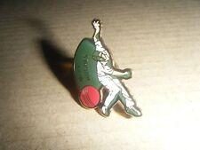 Vintage acrylic enamel cricket badge  MERV HUGHES bowling from 1992-93 season