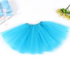 Girl Tutu Ballet Skirt Tulle Costume Fairy Party Hens Nigh 1x Ml Lightblue