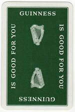 Playing Cards 1 Swap Card - Old Vintage GUINNESS IS GOOD FOR YOU Stout Beer HARP
