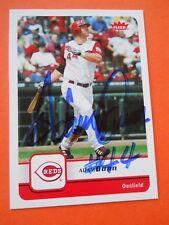 Adam Dunn, 2006 Fleer Autographed Baseball card # 308, Cincinnati Reds, OF
