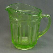Green Depression Glass Small Milk Pitcher Green
