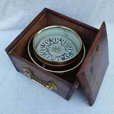 FINE ANTIQUE MARINERS DRY CARD COMPASS SIGNED McGREGOR & CO GLASGOW BOAT YAC