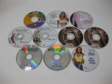Lot of 10 Workout DVDs - Jane Fonda BalanceBall Brooke Burke Denise Austin Strip