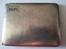 Antique Sterling silver cigarette case of H.D.Mc I 1922