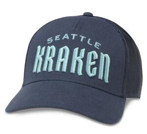Seattle Kraken Adjustable Trucker American Needle Hat Valin NHL Hockey snapback
