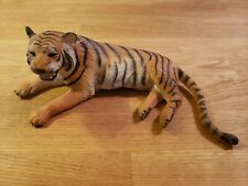 """AAA Tiger Rubber Figure - Realistic - Animal Figures Toy 8"""" x 2.75"""" MINT VTG"""