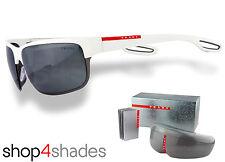 Prada Sport Sunglasses White Rubber_ Gunmetal_Grey Silver Mirror 50QS TWK7W1