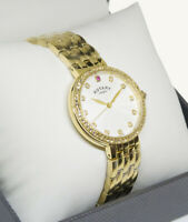 """Rotary LB03000/06 Ladies Ruby Stone Set Gold Plated Bracelet Watch """"RRP £129"""""""
