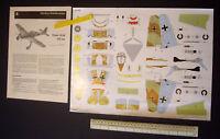 Luftwaffe Focke-Wulf Fw190. 1960s/70s JFS Schreiber Cut-out Card Kit 1:50 Scale