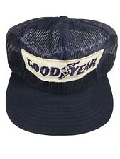 Vintage Goodyear Swingster Full Mesh Hat Snap Back Sizing ***Broken Bill