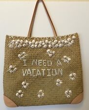 Kate Spade Straw Tote I Need A Vacation