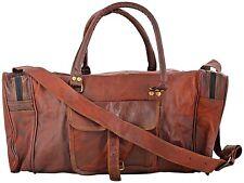 Bag Leather Men Travel Duffle Luggage Gym Vintage Weekend luggage travel bag