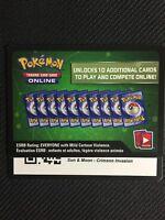 Pokemon Sun & Moon Crimson Invasion TCG online code cards (48 count) - Emailed