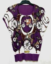 Psalter carriage printed purple top
