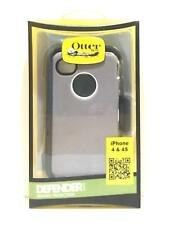 OTTERBOX DEFENDER COVER CASE FOR APPLE IPHONE 4 4S RUGGED HOLSTER CLIP BLACK
