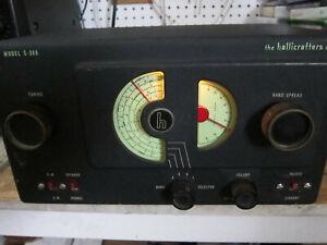 Hallicrafters S-38B AM + CW HAM RADIO RECEIVER, Tube Unit, Original, Powers ON/H