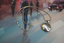 """Sterling Silver Round Locket and 16"""" Snake Chain"""