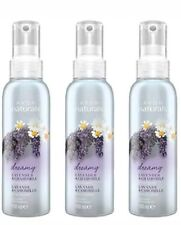3 X Avon Naturals Scented Spritz Lavender and Chamomile 100ml