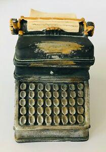 "Miniature Typewriter Resin Trinket Box Distressed Industrial 2.75 x 2.5 x 3.5"""