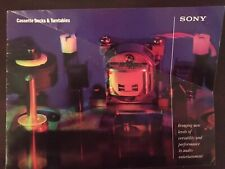 Vintage 1987 Sony Cassette Deck And Turntable Catalog
