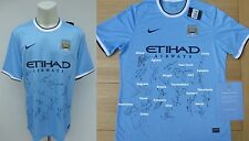 2013-14 Man City Champions Home Shirt Squad Signed with Official COA (11360)
