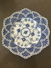 Royal Copenhagen Blue Fluted Full Lace Plates Set Of Two