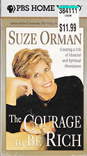The Courage To Be Rich - Suze Orman (VHS, 1999) - Creating a Life - New