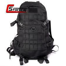 45L 1000D Tactical Military Backpack Rucksack Outdoor Hiking Camping Bag Black
