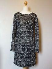 Quiz Camouflage Zip Midi Dress with PU Trim Size 16 NEW* Black Uk Freepost