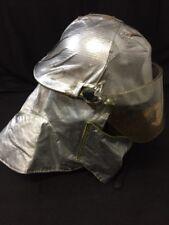 MORNING PRIDE Fire Fighter Helmet Turnout Gear Yellow w/Cover, Shroud & Visor 3