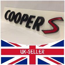 MINI COOPER S REAR MATTE BLACK BADGE EMBLEM FITS VARIOUS MODELS UK STOCK
