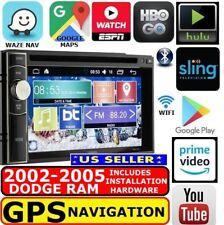 02 03 04 05 Dodge Ram Gps Nav System W/ Wifi-Cd/Dvd-Bluetooth-Usb Car Stereo Pkg